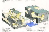 steve holl eco city architectural drawing