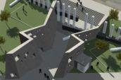 AIDS memorial aerial render