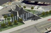 AIDS memorial render aerial view