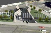 AIDS memorial render aerial view