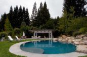 Clarke Residence pool and yard