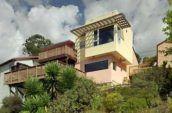 El Cerrito House exterior from below