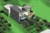 Quintarra House aerial exterior render