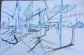 Desert Fantasia by David Kesler Architect, Watercolor